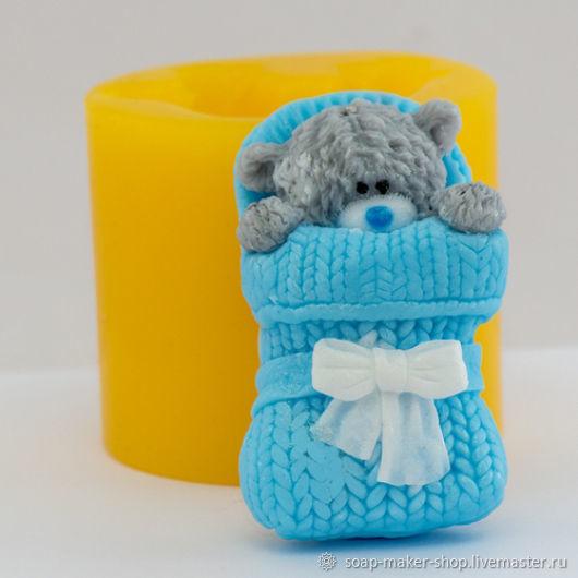 Силиконовая форма для мыла «Тедди в конверте 3D», Формы, Шахты,  Фото №1