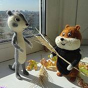 Куклы и игрушки ручной работы. Ярмарка Мастеров - ручная работа Хома и суслик - мультик. Handmade.
