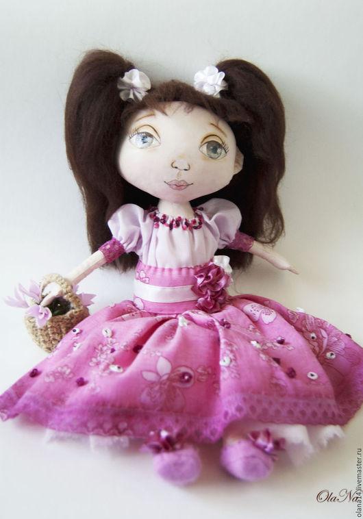 Коллекционные куклы ручной работы. Ярмарка Мастеров - ручная работа. Купить Розочка. Handmade. Розовый, кукла в подарок, девочка в розовом