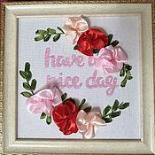 Панно ручной работы. Ярмарка Мастеров - ручная работа Панно: Have a nice day. Handmade.