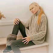 """Свитеры ручной работы. Ярмарка Мастеров - ручная работа Вязаный кашемировый свитер  """"Серая льдинка"""". Handmade."""