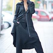 Одежда ручной работы. Ярмарка Мастеров - ручная работа Черный костюм. Модный костюм. Костюм из шерсти на зиму. Handmade.