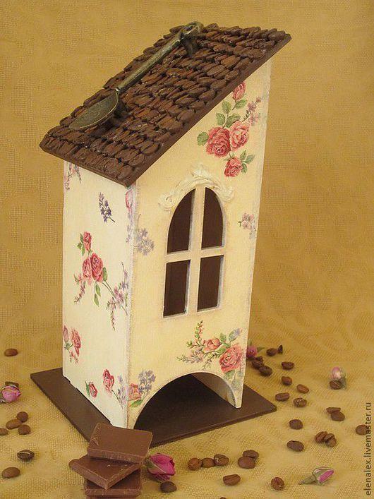 """Кухня ручной работы. Ярмарка Мастеров - ручная работа. Купить Чайный домик """"Ангел в окошке"""". Handmade. Чайный домик, подарок"""