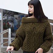 Одежда ручной работы. Ярмарка Мастеров - ручная работа Араны для хрупкого плеча (по мотивам от Рубан) вязаный свободный джемп. Handmade.