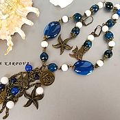 Украшения handmade. Livemaster - original item Sea Set. necklace agate earrings. Handmade.