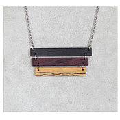 Украшения handmade. Livemaster - original item Stylish pendant made of wood. Handmade.