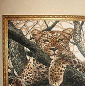 Картины и панно ручной работы. Ярмарка Мастеров - ручная работа Леопард. Handmade.