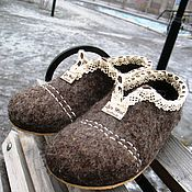"""Обувь ручной работы. Ярмарка Мастеров - ручная работа Тапки-мокасины """"Village style"""". Handmade."""