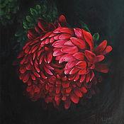 Картины и панно handmade. Livemaster - original item Oil Painting Red Chrysanthemum. Handmade.