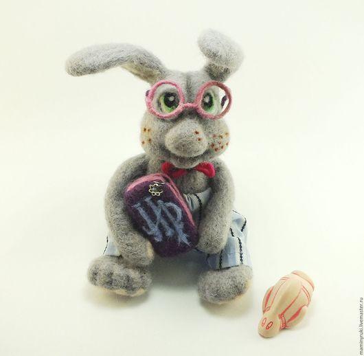"""Игрушки животные, ручной работы. Ярмарка Мастеров - ручная работа. Купить Валяная игрушка """" Заяц Гарри Поттер"""". Handmade."""