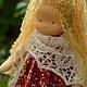 Вальдорфская игрушка ручной работы. Серафимка, 36см. Калина Ерофеева куклы для детей. Интернет-магазин Ярмарка Мастеров. Вальдорфская кукла