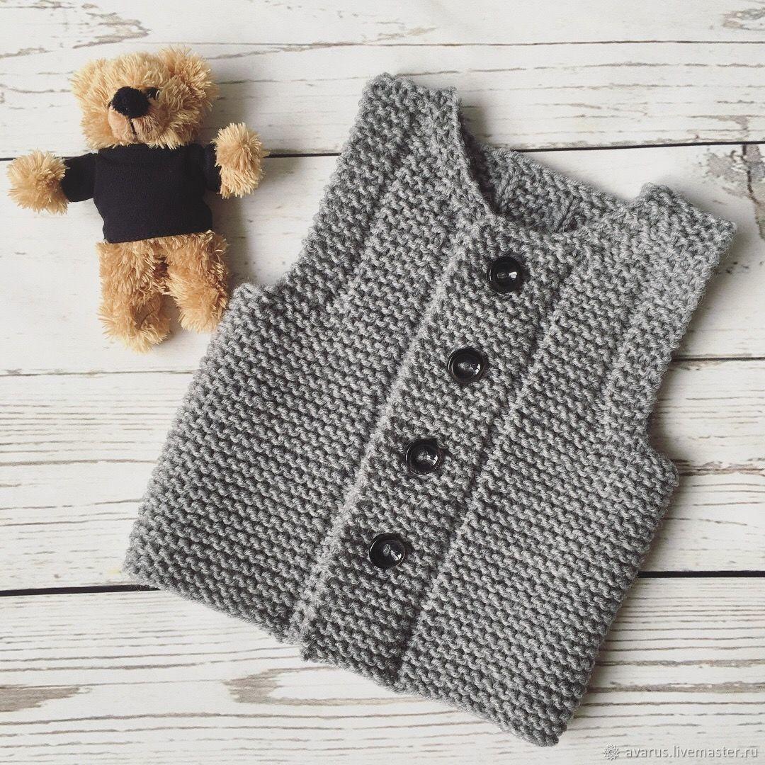 Безрукавка вязание детям 4