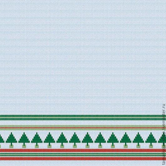 Открытки и скрапбукинг ручной работы. Ярмарка Мастеров - ручная работа. Купить Бумага «Рождественские ёлки». Handmade. Голубой, зеленый, красный