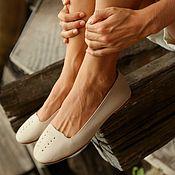 Обувь ручной работы handmade. Livemaster - original item Copy of LUNA. Leather flats / women shoes / leather flat shoes/SALE. Handmade.