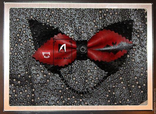 Галстуки, бабочки ручной работы. Ярмарка Мастеров - ручная работа. Купить Галстук бабочка в рок стиле. Handmade. Черный, креатив