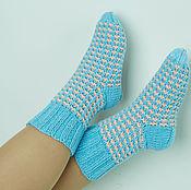 Аксессуары ручной работы. Ярмарка Мастеров - ручная работа носочки двухцвеные. Handmade.