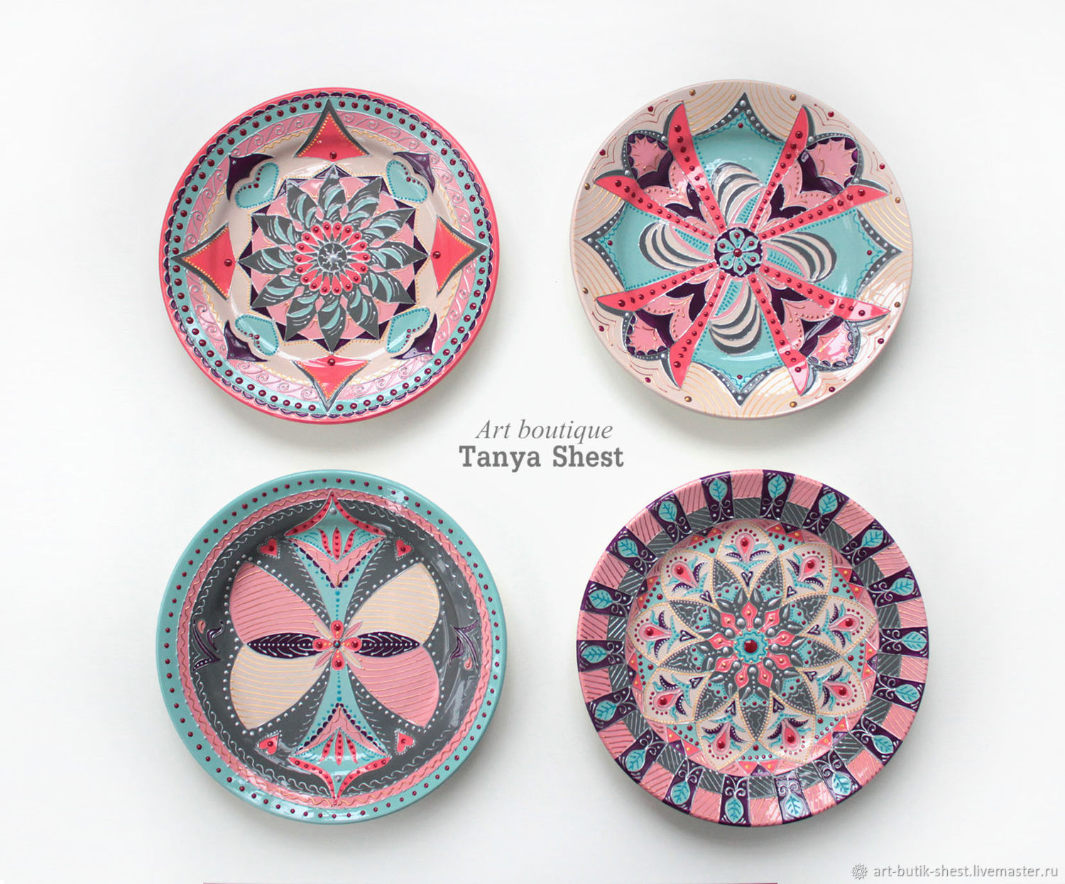 Set of plates 'Modern' hand painted 3 sizes to choose from, Plates, Krasnodar,  Фото №1