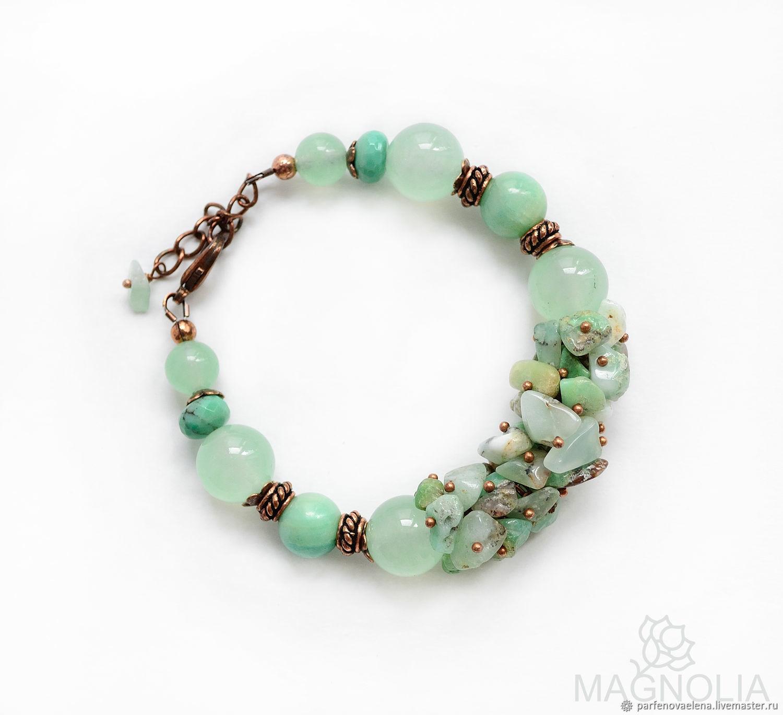 Bracelet 'wild mint', Bead bracelet, Omsk,  Фото №1