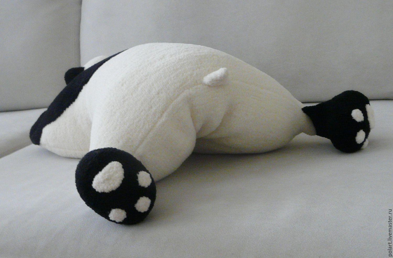 схема вязания игрушки панды большой