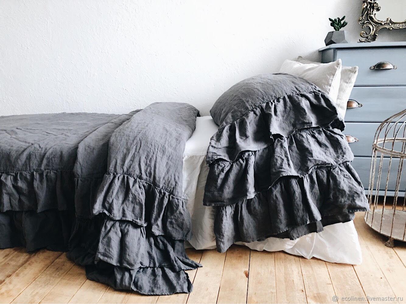 Set of bed linen. 100% linen. Softened, Bedding sets, Minsk,  Фото №1