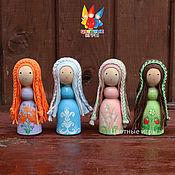 """Вальдорфские куклы и звери ручной работы. Ярмарка Мастеров - ручная работа Деревянные куколки """"Феи времён года"""". Handmade."""