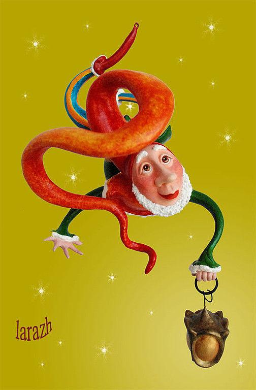"""Сказочные персонажи ручной работы. Ярмарка Мастеров - ручная работа. Купить Кукла """"Гном с фонариком"""". Handmade. Интерьерная кукла, гномы"""