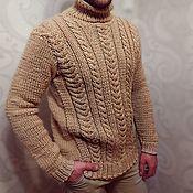 Свитеры ручной работы. Ярмарка Мастеров - ручная работа Вязаный мужской свитер ручной работы. Handmade.