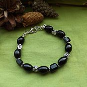 Фен-шуй и эзотерика handmade. Livemaster - original item Bracelet with schorl and jet. Handmade.