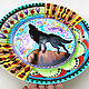 Decorative plate 'Wolf howls at the moon'. Plates. Art by Tanya Shest. My Livemaster. Фото №5