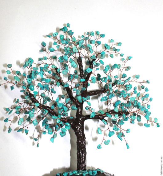 """Деревья ручной работы. Ярмарка Мастеров - ручная работа. Купить """"Бирюзовый каприз"""" дерево из бирюзы. подарок на 8 Марта.. Handmade."""