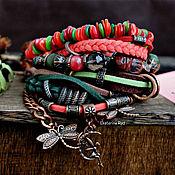 Украшения handmade. Livemaster - original item Beautiful, multi-row boho bracelet with stones
