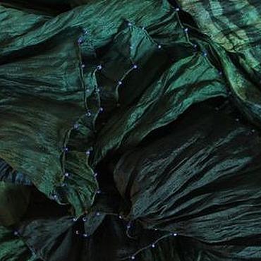 Аксессуары ручной работы. Ярмарка Мастеров - ручная работа Шелковый палантин Зачарованный сад. Handmade.