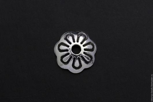 Для украшений ручной работы. Ярмарка Мастеров - ручная работа. Купить Шапочки серебро 925 пробы 8 мм. Handmade.