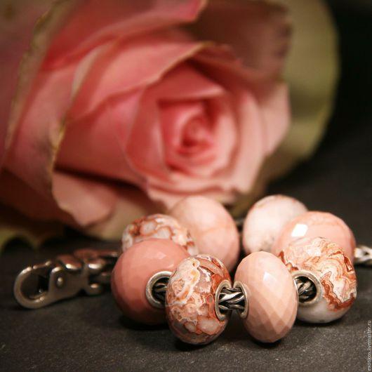Для украшений ручной работы. Ярмарка Мастеров - ручная работа. Купить Опал. Handmade. Розовый, камень натуральный, браслет с камнями