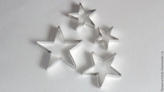 Материалы для флористики ручной работы. Ярмарка Мастеров - ручная работа. Купить Чашелистики в форме звёздочек - 4 штуки. Handmade. Чашелистики