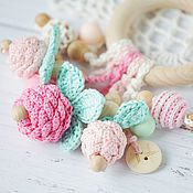 Одежда handmade. Livemaster - original item Copy of Personalized teether-ring - the first toy berry. Handmade.
