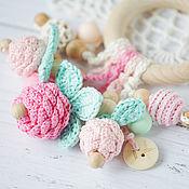 Работы для детей, handmade. Livemaster - original item Copy of Personalized teether-ring - the first toy berry. Handmade.