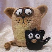 """Куклы и игрушки ручной работы. Ярмарка Мастеров - ручная работа Коты """"Ты кто!?"""". Handmade."""