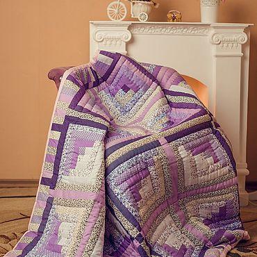 """Текстиль ручной работы. Ярмарка Мастеров - ручная работа """"Сиреневый Туман"""" Уютное покрывало в технике пэчворк. Handmade."""