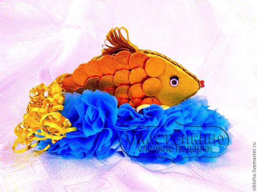 Персональные подарки ручной работы. Ярмарка Мастеров - ручная работа. Купить Золотая рыбка. Handmade. Золотая рыбка, сладкий сувенир