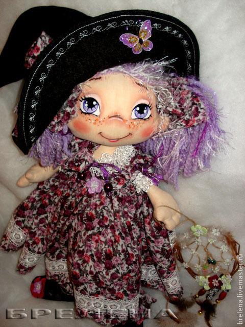 Сказочные персонажи ручной работы. Ярмарка Мастеров - ручная работа. Купить Кукла текстильная Фея сиреневых снов. Handmade. Сиреневый