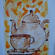 Картины и панно handmade. Livemaster - original item Watercolor painting Diptych