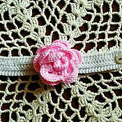 Украшения ручной работы. Ярмарка Мастеров - ручная работа Браслет вязаный крючком с розой. Handmade.