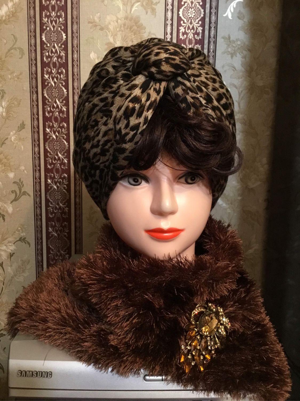 Шапки ручной работы. Ярмарка Мастеров - ручная работа. Купить Чалма - тюрбан шапка летняя двойная, двухсторонняя « Кошечка». Handmade.