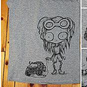 Одежда ручной работы. Ярмарка Мастеров - ручная работа футболка женская Зомбо-Механик. Handmade.
