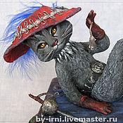 """Куклы и игрушки ручной работы. Ярмарка Мастеров - ручная работа """"La chat botte - кот в сапогах"""". Handmade."""