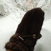Аксессуары handmade. Livemaster - original item Mittens: mink mittens. Handmade.