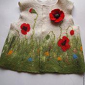 Одежда ручной работы. Ярмарка Мастеров - ручная работа Детский валяный жилет. Handmade.