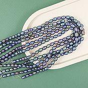 Материалы для творчества handmade. Livemaster - original item 10 PCs. Pearls of nature. figure approx. 5 mm (thickness) AA dark (5425). Handmade.