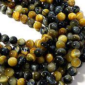 Материалы для творчества handmade. Livemaster - original item Hawkeye beads, natural beads Amulet, Amulet. Handmade.